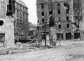 Corvin köz, Üllői út, József körút kereszteződés, ISZU-152 rohamlöveg (1956) Fortepan 6412.jpg