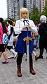 Cosplayer of Saber, Fate stay night at CWT40 20150809.jpg