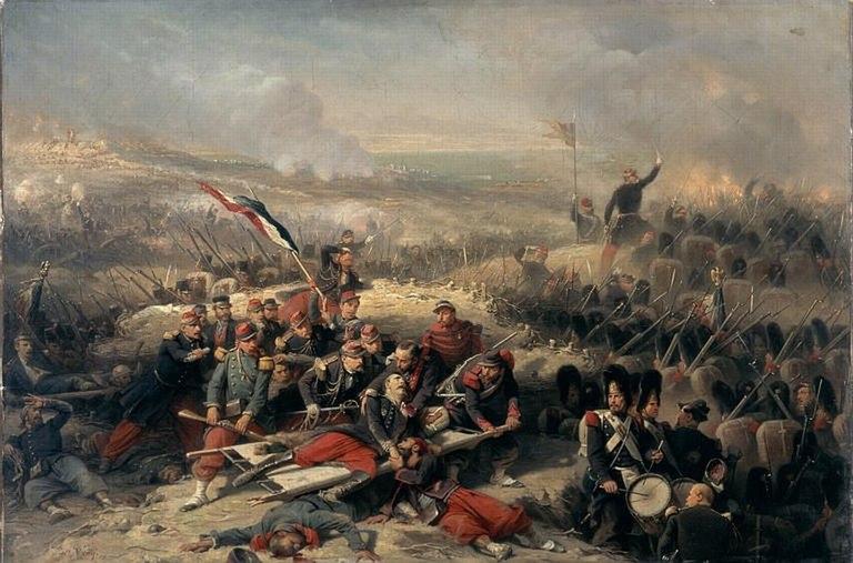 Courtine de Malakoff, 8 septembre 1855 par Adolphe Yvon