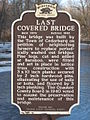 Covered Bridge, Cedarburg, Wisconsin - sign.JPG