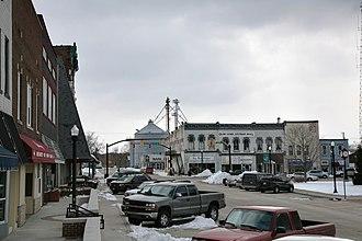 Covington, Indiana - Covington town square