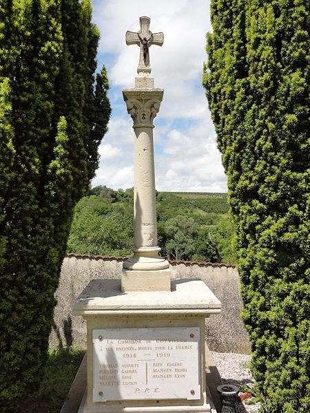 Coyviller (M-et-M) croix de cimetière, monument aux morts