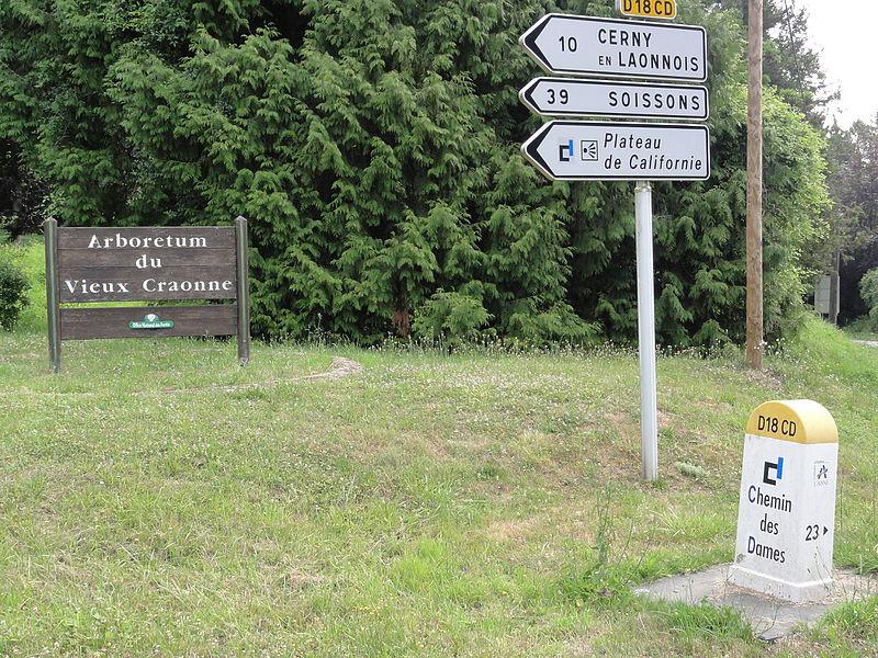 Craonne (Aisne) Vieux Craonne, panneaux de route