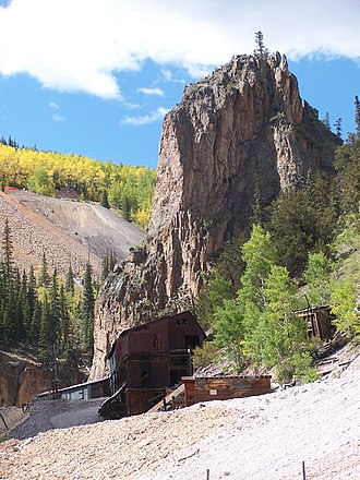 Creede, Colorado - Image: Creede, Bachelor Loop mine