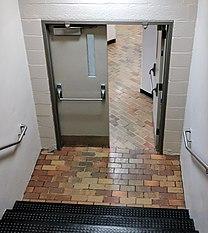Doors with cross bar style panic bars & Crash bar - Wikipedia