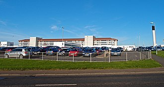 Kilmarnock - University Hospital Crosshouse was constructed after the demolishing of the Kilmarnock Infirmary