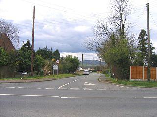 Frankley village in United Kingdom