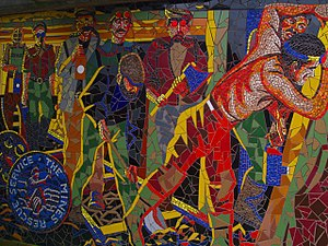 Crumlin, Caerphilly - Image: Crumlin mural