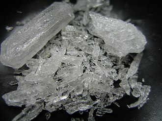 Methamphetamine - Pure shards of methamphetamine hydrochloride, also known as crystal meth