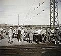 Cserkészek a Kelenföldi pályaudvaron, 1939. Fortepan 92378.jpg
