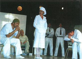 One Flew Over the Cuckoo's Nest (play) - A scene from a Bashkir Academic Drama Theater's production of One Flew Over the Cuckoo's Nest.