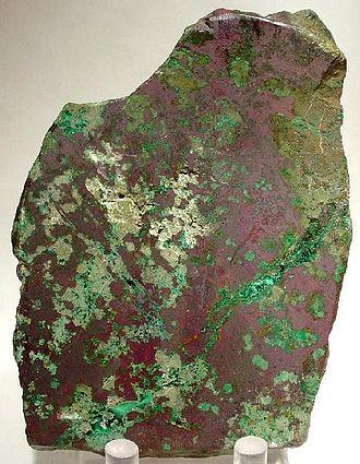 Robinson Mine - Malachite and Cuprite in a historic high-grade copper ore specimen from the Robinson Mining District.