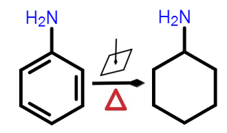 Cyclohexylamine - Cyclohexylamine catalytical synthesis from aniline hydrogenation upon high pressure and temperature.