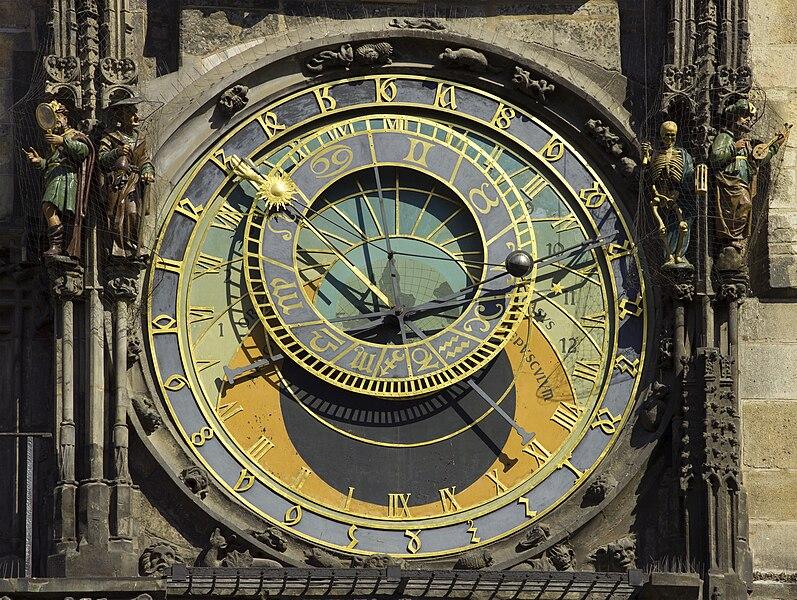 צילום של שעון עתיק
