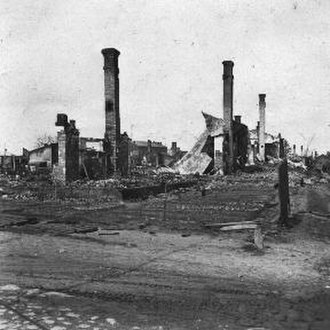 The Holocaust in Latvia - Fire damage in Daugavpils, July 1941