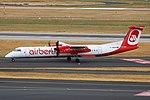 D-ABQR Bombardier Dash 8-Q400 airberlin Eurowings opb LGW DUS 2018-07-31 (16a) (44206312842).jpg