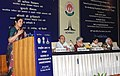 D. Purandeswari addressing at the signing ceremony of an MoU between Central Board of Secondary Education (CBSE) and National Council for Hotel Management & Catering Technology (NCHMCT) to introduce hospitality courses in.jpg