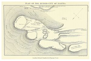 Isauria - Plan of the ruines of Isaura (Davis, 1879)