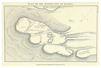 Isauria - Plan of the ruins of Isaura (Davis, 1879)