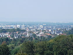 View over Darmstadt