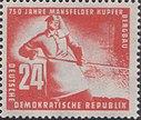 DDR-Briefmarke 750 J. Mansfeld Bergbau 1950 24 Pf.JPG