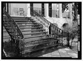 DETAIL, FRONT ENTRANCE STEPS - Hampton-Preston House, 1615 Blanding Street, Columbia, Richland County, SC HABS SC-869-2.tif