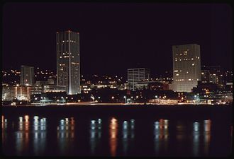 Downtown Portland, Oregon - Downtown Portland in 1973