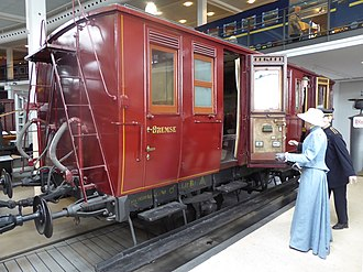 Vigerslev train crash - This coach now preserved was amongst the consist of the firefighting equipment train. Train 168 was made up several wooden two-axle coaches like this one