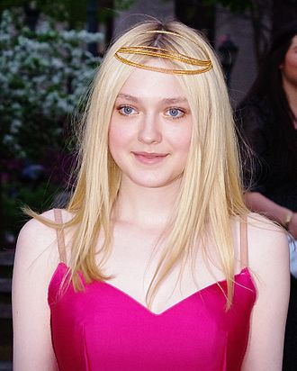 Fanning at the Vanity Fair party for the 2012 Tribeca Film Festival Dakota Fanning VF 2012 Shankbone 3.JPG