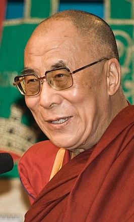 De huidige dalai lama (Tenzin Gyatso)