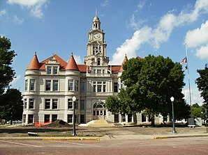 Das Dallas County Courthouse in Adel, gelistet im NRHP Nr. 73000723[1]