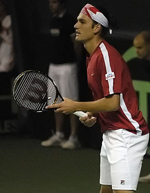 Frank Dancevic - Dancevic in Davis Cup action versus Ecuador, 2009