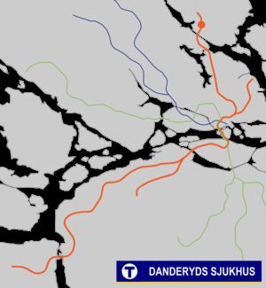 Danderyds sjukhus metro station - Image: Danderyds sjukhus Tunnelbana