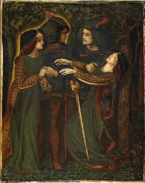 Archivo:Dante Gabriel Rossetti - How They Met Themselves (1860-64 circa).jpg