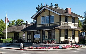 Danville, California - Southern Pacific Railroad Depot. September 17, 2008 Courtesy Sanfranman 59.