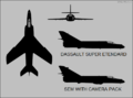 Dassault Super Etendard three-view silhouette.png