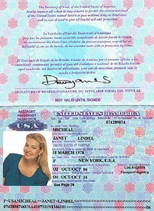 Romance scam - Image: Dating Scam Passport