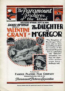 <i>The Daughter of MacGregor</i> 1916 film by Sidney Olcott