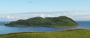 Davaar_Island at the mouth of Campbeltown Loch.