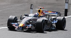 Red Bull RB3 - Image: David Coulthard 2007 British GP (cropped)
