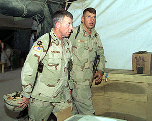 David D. McKiernan - LTG McKiernan with BG Richard F. Natonski, 2003.