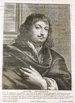 Frederik Bouttats the Younger - Portrait of David Ryckaert III from Het Gulden Cabinet.