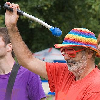 David Spiegelhalter - David Spiegelhalter playing with Arco Iris Samba band, July 2009