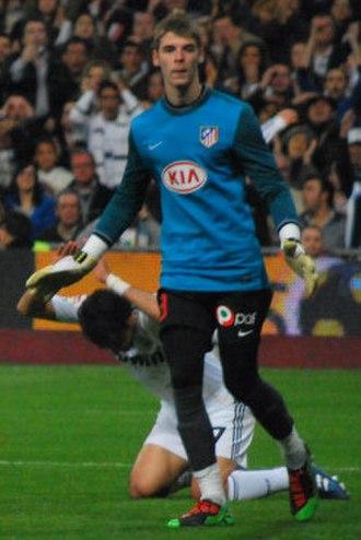 David de Gea - De Gea playing for Atlético Madrid in 2010