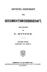 Deutsche Zeitschrift für Geschichtswissenschaft. Band 11.
