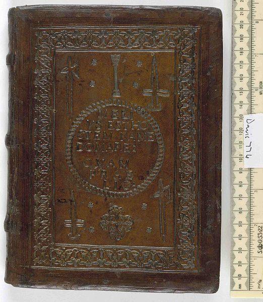 File:De re militari -and- Stratagematicon -and- De vocabulis rei militari -and- Veranium de optimo imperatore...officio - Upper cover (Davis774).jpg
