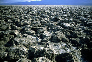 Salt pan (geology) - Devil's Golf Course, Death Valley National Park, United States