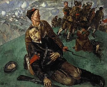 Death of Commissar - Sketch (Kuzma Petrov-Vodkin).jpg