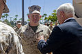 Defense.gov News Photo 100812-D-7203C-013 - Secretary of Defense Robert M. Gates presents the Purple Heart to Marine Gunnery Sgt. David Rohde at Balboa Naval Hospital in San Diego Calif. on.jpg