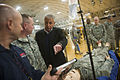 Defense Secretary Chuck Hagel observes simulated training for Operation United Assistance on Fort Campbell, Ky 141117-D-AF077-184.jpg